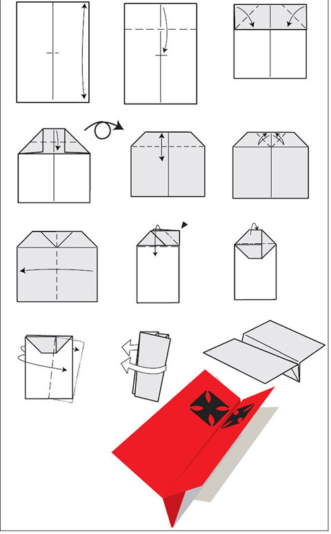 Бумажные самолётики своими руками 64