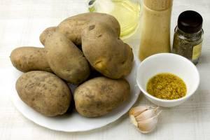 Как приготовить запеченный картофель с горчицей? Фотосовет