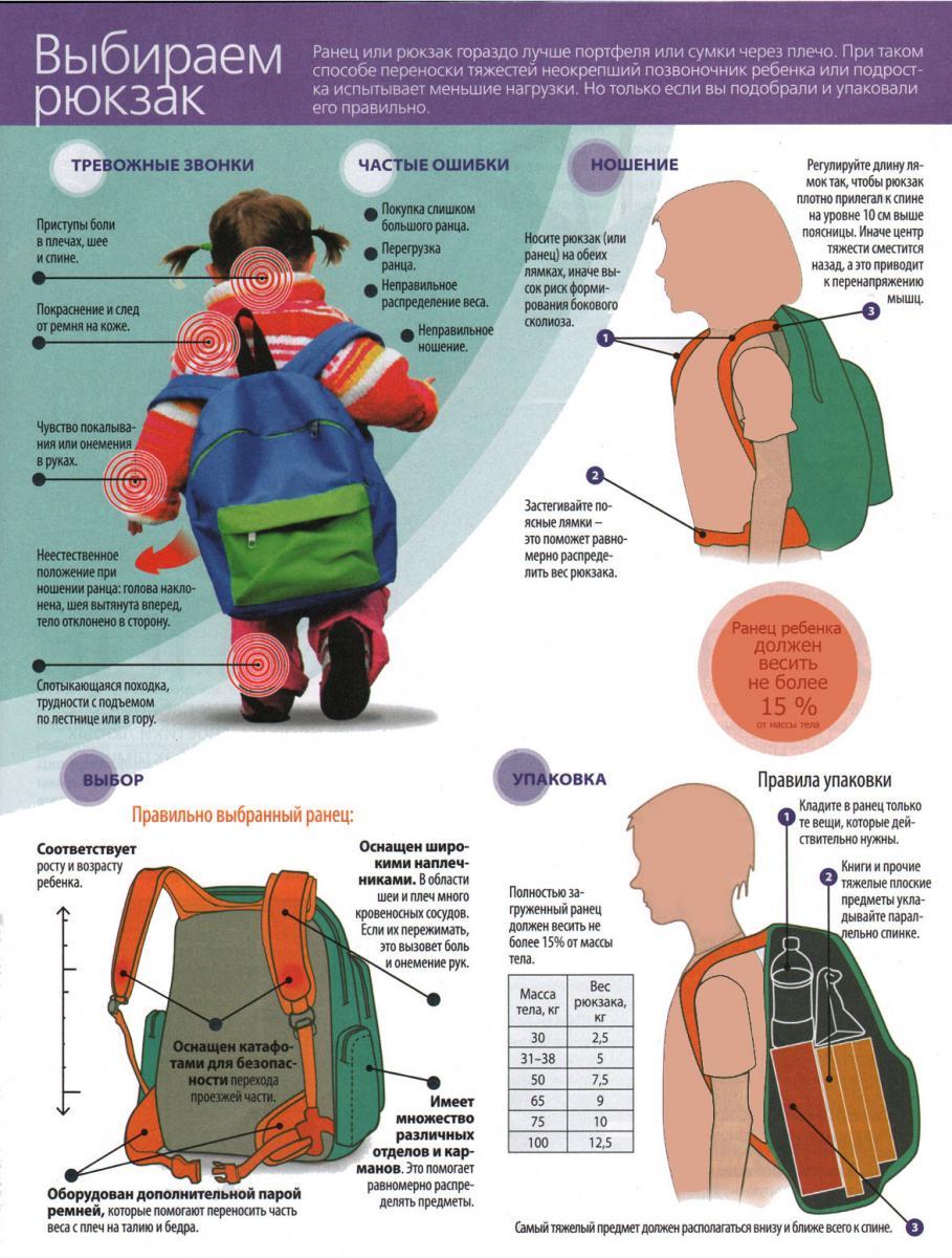 54ee9192b24d Как правильно выбрать школьный рюкзак - краткая инструкция (для увеличения  нажмите на фото)