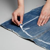 Женская сумка из джинсов 128