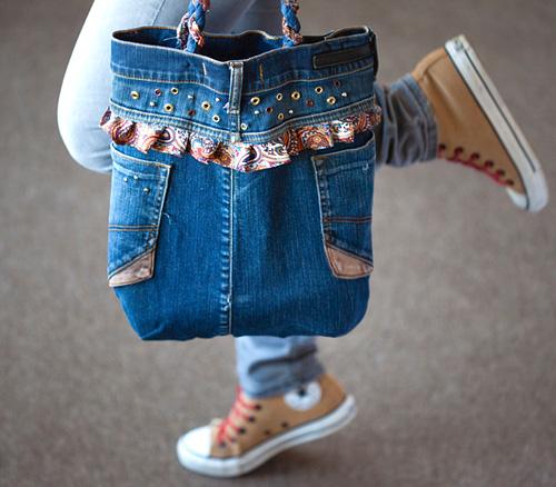 Сумку из джинсов своими руками фото