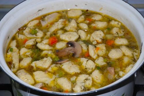 как приготовить суп из клецок