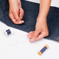 Как зашить самому джинсы