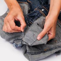 Как зашить джинсы фото